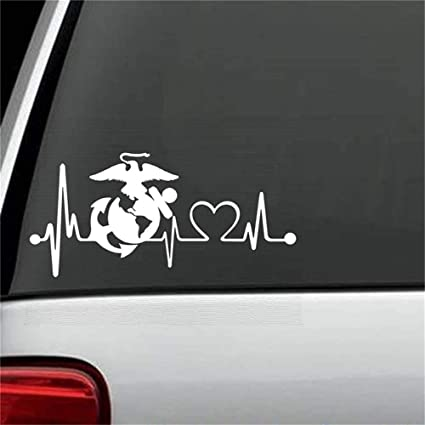 Exterior Accessories Wall Art Stickers Quotes and Sayings Eagle Anchor Globe Heart Beat Monitor Military For Car Laptop Window Sticker