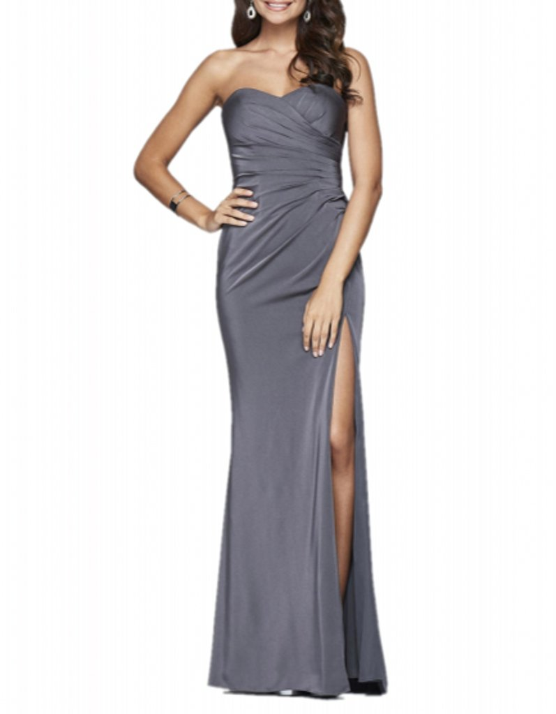 Royaldress Rot Rosa Silber herzausschnitt Chiffon Abendkleider  Brautjungfernkleider Promkleider Lang: Amazon.de: Bekleidung