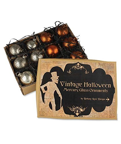 Bethany Lowe Designs Vintage Halloween Mercury Glass Ornaments (Ornament Halloween Glass)