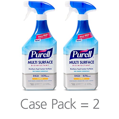 - PURELL Multi Surface Disinfectant Spray - Citrus Fragrance, VOTED 2018 PRODUCT OF THE YEAR - 28 oz. Spray Bottle (Pack of 2) - 2844-02-ECCAL