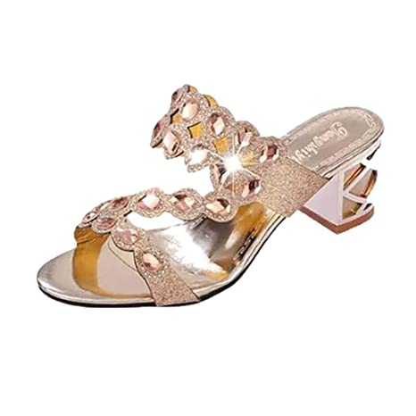 d8c28678c89a9 Women Bohemia Bling Sandals Rhinestone Rubber Sole Clearance Flip Flop  Bridesmaid Party Slipper Flat T-