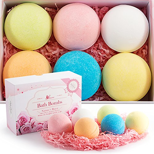 Bath Bombs kit made by VENERE, New gift set ideas for women, men, mom, girls, teens, birthday, easter, kids, valentines - Ultra Lush Spa Fizzies - Relaxing gifts for Bath Bubbles & Basket (Valentine Baskets For Men)
