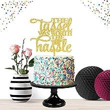 The Tassel was Worth The Hassle Gold Cake Topper Party Decor 2020 Congrats Grad Photo Prop High School Graduation Celebration
