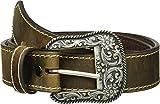Ariat Women's Basic Stitch Edged Belt, Brown, Medium