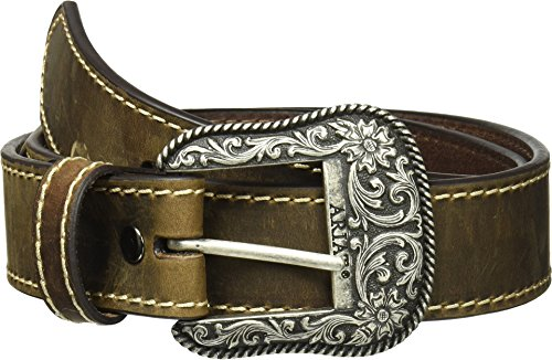 - Ariat Women's Basic Stitch Edged Belt, brown, Large