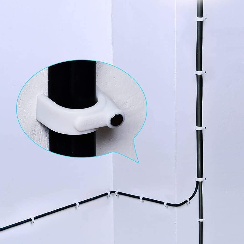 10 mm 6 mm Bitfu Lot de 700 colliers de serrage /à clou avec clous pour c/âble de 4 mm 8 mm 12 mm clips ronds pour c/âbles fixpoint