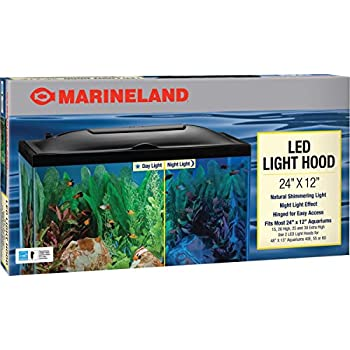 Amazon marineland led light hood for aquariums day night marineland led light hood for aquariums day night light mozeypictures Image collections