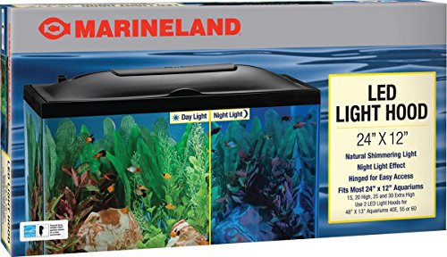 Aquarium Light Hood - MarineLand LED Light Hood for Aquariums, Day & Night Light
