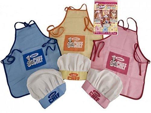 Grembiuli Da Cuoco Per Bambini.Pms Set Da Cuoco Per Bambini Con Cappello E Grembiule Colore Giallo Rosa Blu