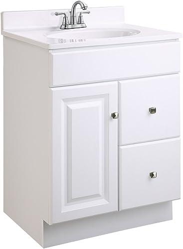 Design House 545004 Wyndham Ready-To-Assemble 1 Door/2 Drawer Vanity
