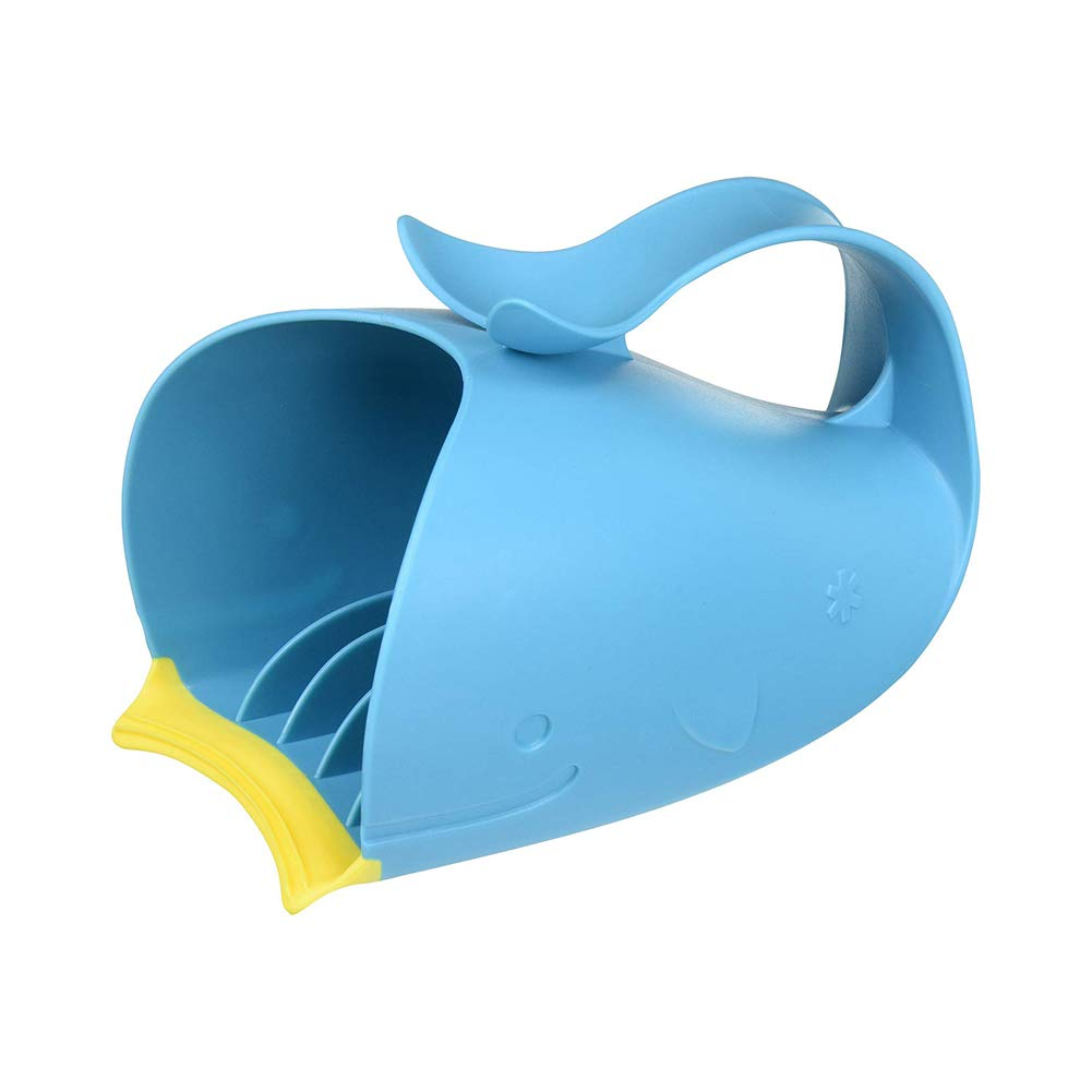 YaptheS Whale baby shower water scoop baby baby water scoop bathing cup bathing spoon baby shower gel protection soft cap baby bathtub thermometer