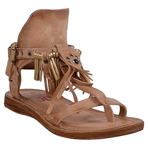 As98 Korp Kvinna T-rem Sandal Tan