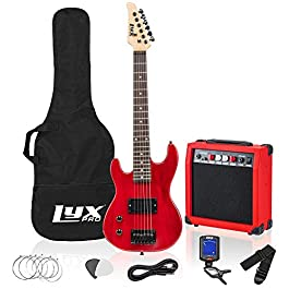 LyxPro Left Hand 30 Inch Electric Guitar Kit for Lefty Kids 3/4 Size Beginner's Guitar, Amp, Six Strings, Two Picks…