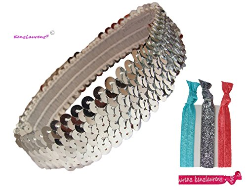 3 Row Metallic Stretch Sequin (Silver Sequin Band)