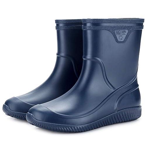 Flyd Gummistiefel Herren Kurzschaft rutschfeste Regenstiefel Männer Wasserdicht Kurz Gummi Stiefeletten