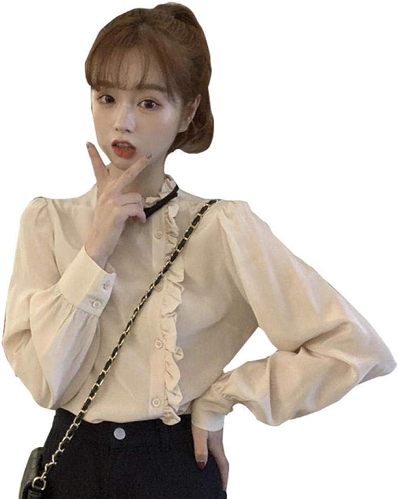 SJHJA Blusas Y Camisas para Mujer Conjunto Asimétrico De Camisas @Color Albaricoque Código: Amazon.es: Ropa y accesorios