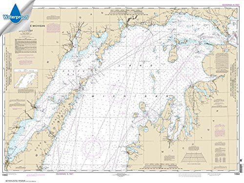 NOAA Chart 14902: North end of Lake Michigan: including Green Bay 35.1 x 46.8 (WATERPROOF) (Nautical Chart Lake Michigan)