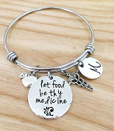 Nutrionist gift for women, Dietitian bangle bracelet, Register Dietitian Gift