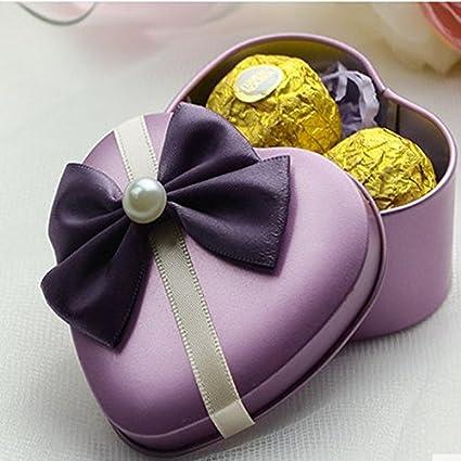 2 piezas creativo Caja de Bombones de Heart Shaped boda Party caja de regalo para invitados