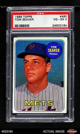 Amazoncom 1969 Topps 480 Tom Seaver New York Mets