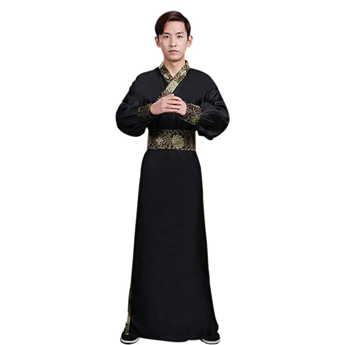 Amazon.com: DAZISEN Mens Hanfu Chinese Style Clothing Tang ...