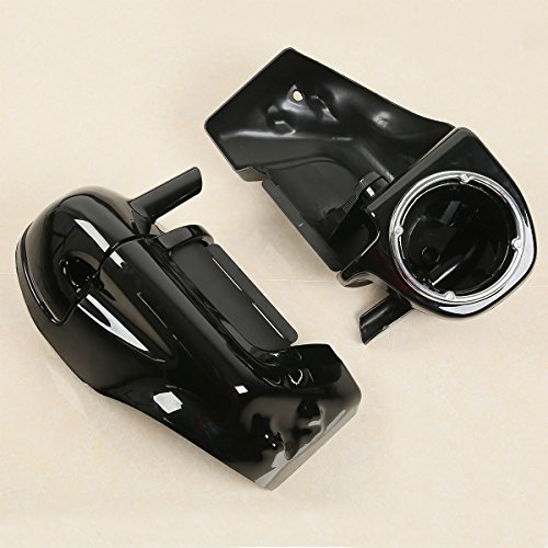 - XFMT Lower Vented Leg Fairings W/Speaker Box Pods For Harley Road King Electra Glide 1983-2013