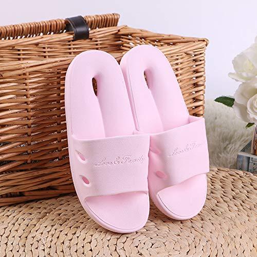 Antidérapantes Femmes Bleu Bain Couple La Maison Modèles De Pantoufles D'intérieur Épaisse Qsy Ajourées Shoe À Salle Bains Clair 0aO44x