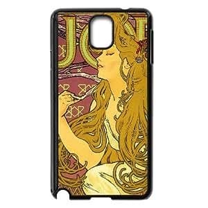 Zodiac Signs Alphonse Mucha Samsung Galaxy Note 3 Cell Phone Case Black MUS9182002