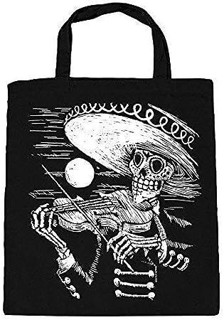 Bolsa de Algodón con Estampado Músico Esqueleto Geiger Sombrero ...