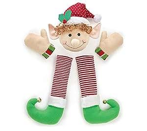 Festive Christmas Holiday Plush Elf Wreath Decorating Kit, Multicolor