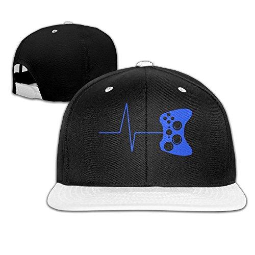 Heartbeat of A Gamer Men s Adjustable Snapback Hip Hop Outdoor Sport Trucker  Cap Hats Flat Brim 57888cbb5244