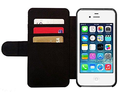 Leder Flip Case Tasche Hülle für Apple iPhone 4/4S - Flagge Von Schottland by BruceStanfieldArtist