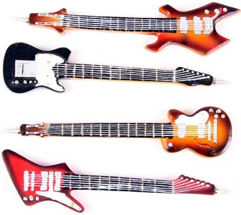 lotusandlime Rock Guitarra bolígrafo, 4 (Precio es para 1): Amazon ...