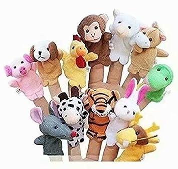 Set de 10 marionetas de dedo Serie de animales marinos y cables
