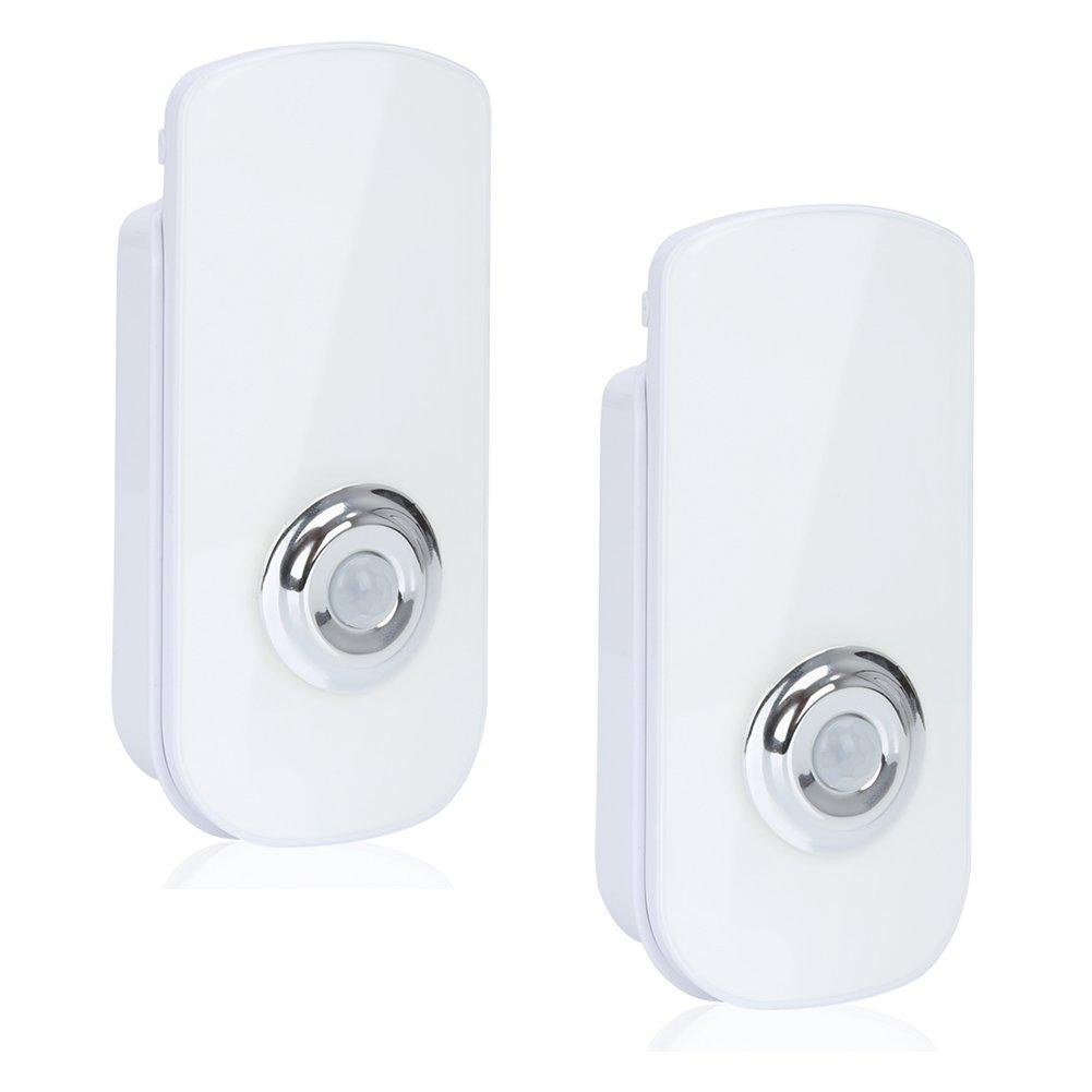 EZOWare LEDモーションセンサー夜間ライト Pack Of 2 ホワイト 885157969475 B01CHPBFEA  Pack Of 2