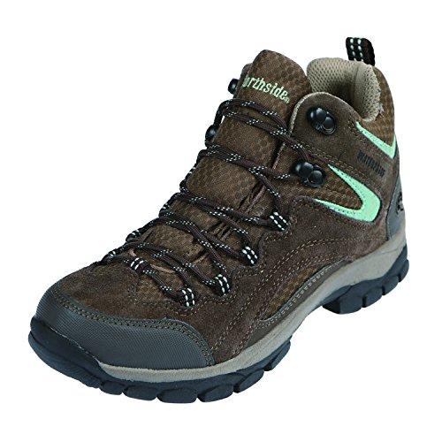 Northside Women's Pioneer Waterproof Hiking Boot, Dark Brown/Sage, 6.5 Medium US by Northside