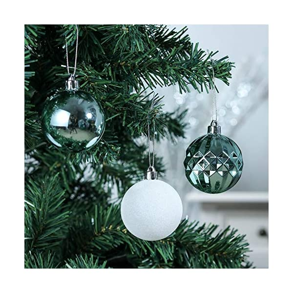 Valery Madelyn Palle di Natale 50 Pezzi 6 cm Palline di Natale, Essenziali Blu e Argento di Base Infrangibile Ornamenti di Palla di Natale Decorazione per la Decorazione Dell'Albero di Natale 4 spesavip