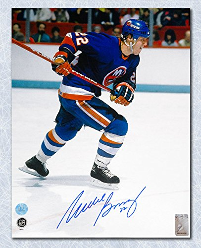 Autograph Authentic BOSM11504A Mike Bossy New York Islanders Autographed Rushing 11 x 14 in. (Mike Bossy Memorabilia)