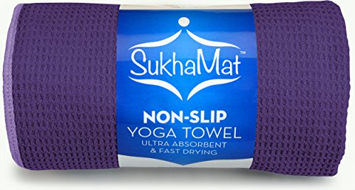 SukhaMat Non-Skid Yoga Towel, The Best Non-Skid, Ultra Absorbent, Fast Drying Yoga Towel, Durable Microfiber Construction, 72