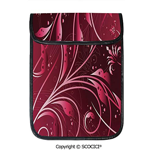 - SCOCICI Shockproof Tablet Sleeve Compatible 12.9 Inch iPad Pro Modern Japanese Artwork Flower Abstraction Petals Dots Swirls Graphic Plant Decorative Tablet Protective Bag