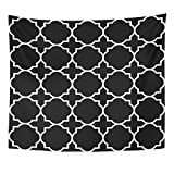 VaryHome Tapestry Christian Black Geometric Pattern Byzantine Church Home Decor Wall Hanging for Living Room Bedroom Dorm 50x60 Inches