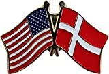 ALBATROS Pack of 24 USA American Denmark Flag Lapel Pin for Bike Hat and Cap for Home and Parades, Official Party, All Weather Indoors Outdoors