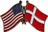 ALBATROS Pack of 24 USA American Denmark Flag Lapel