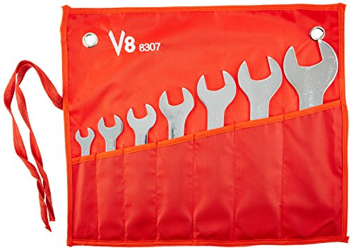 V-8 Tools V8T8307 Wrench Set (7 Piece Super (Flat Wrench Set)