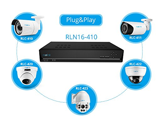 Reolink PoE NVR 16 Channel Includes 3TB Hard Drive 4MP HD IP Home Security Camera System Outdoor Night Vision Motion RLN16-410 by REOLINK (Image #3)