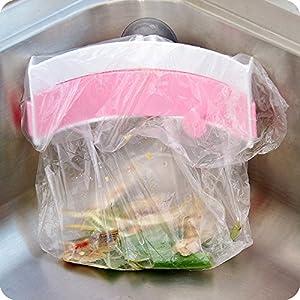 Garbage Bag Holder Kitchen Tools & Gadgets - Creative Strong Sucker Garbage Bag Holder Kitchen Sink Clip-On Trash Storage Rack - Old - 1PCs