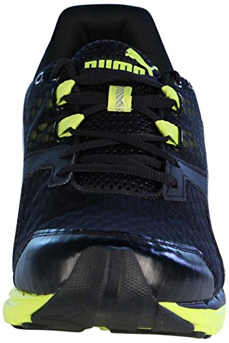 Puma Mens Poseidon V2 Running Shoes-Black/Sulphur Spring-10 V204EjXv