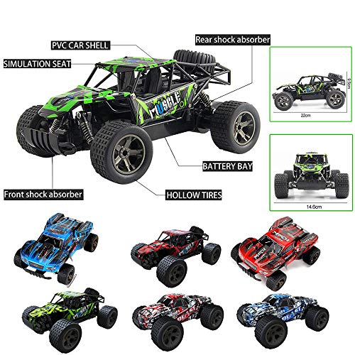 DICPOLIA 1:20 2WD High Speed RC Racing Car 4WD Remote Control Truck Off-Road Buggy Toys,Car Toys for Kids Toddlers Baby Boys Girls Adults Seat Model Toys Steering Wheel Car Toy Track (A) by DICPOLIA