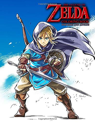 Amazon Com The Legend Of Zelda Coloring Book For Kids And Adults 9781679875809 Takeda Michael Books