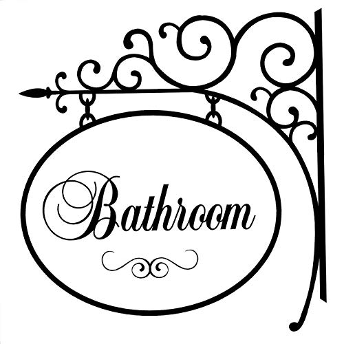 Waldenn Bathroom Hanger Sign Wall Decal Home Lettering Words Quote Decor | Model DCR - 1348